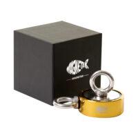 bulldog 400 goud, dubbelzijdige vismagneet, dubbele vismagneet, dubbelzijdige magneet, bulldog magneet