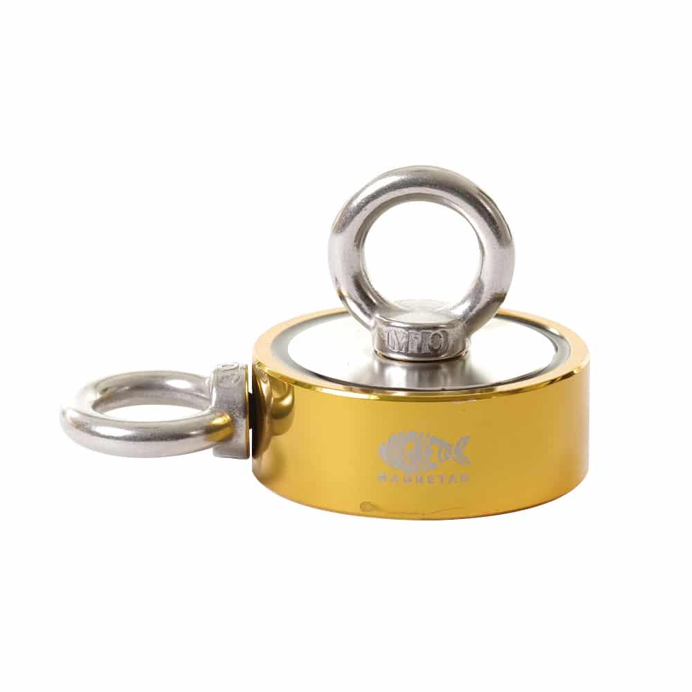 bulldog 800 goud, dubbelzijdige magneet, dubbelzijdige vismagneet, dubbele magneet, dubbele vismagneet