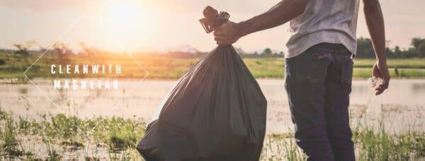 clean with magnetar, milieubewust, schone wereld, kies voor groen, magneetvissen milieu